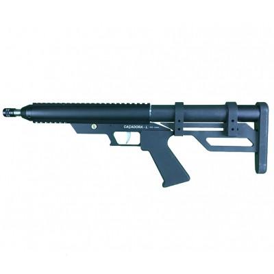 "Pistola PCP Caçadora Leve 5,5mm Cano 10"""