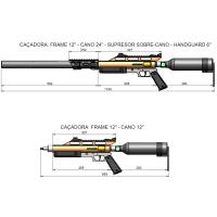 Nova Carabina tradicional PCP Caçadora 5.5mm encomenda